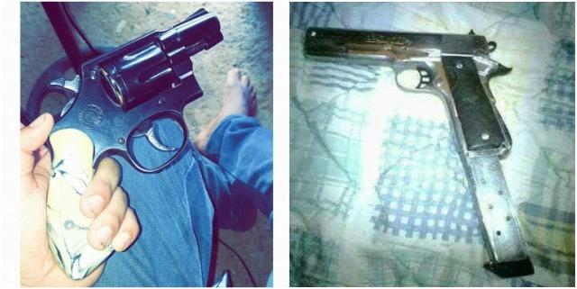 Armas en el perfil del expolicu00eda