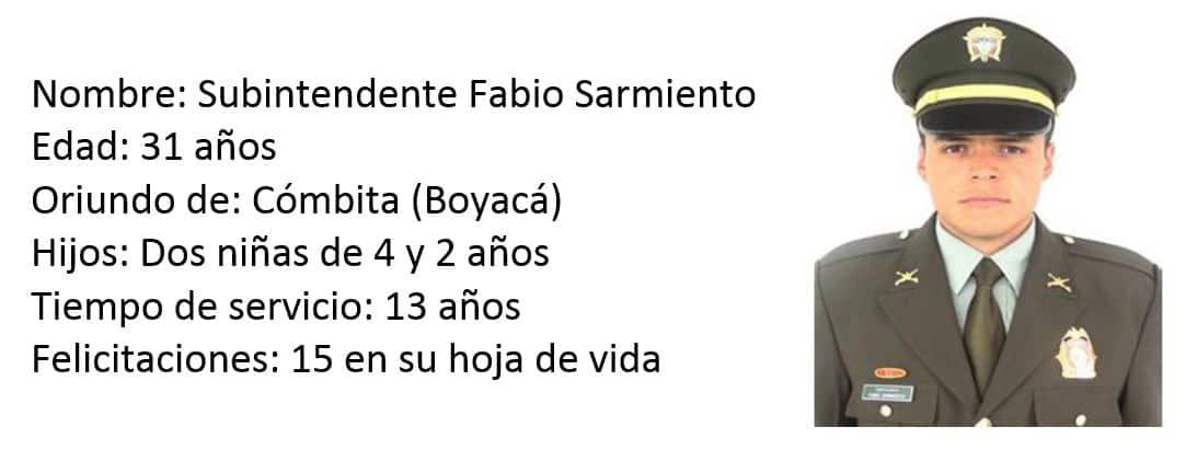 Subintendente Fabio Sarmiento