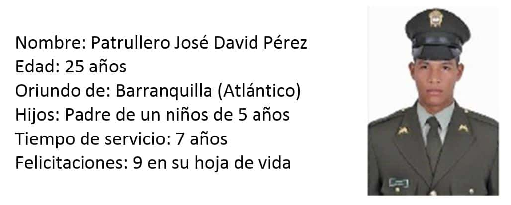 Patrullero José David Pérez