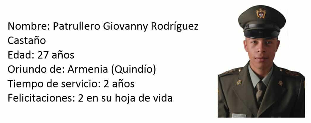 Patrullero Giovanny Rodríguez